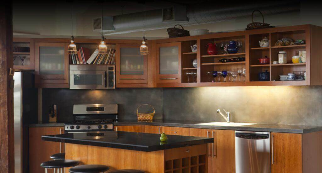 Cabinets in beautiful kitchen